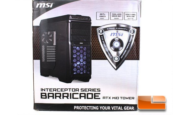 MSI Barricade Box Front