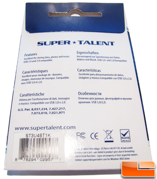 Super Talent Express 3.0 Back