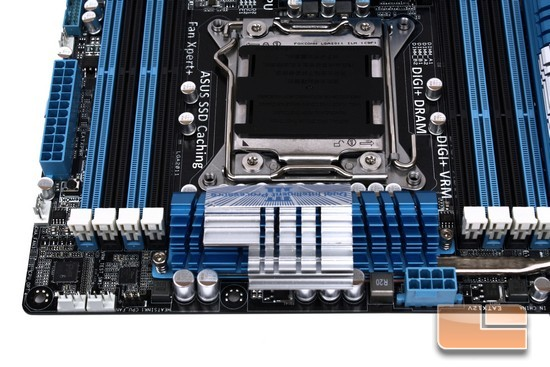 ASUS P9X79 Deluxe CPU Phased Power Heatsink