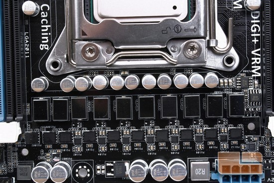 ASUS P9X79 Deluxe CPU Phased Power Distribution
