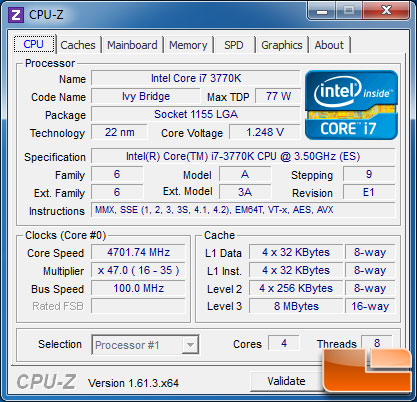 CyberPower Gmaer Ultra 2098 CPU-Z
