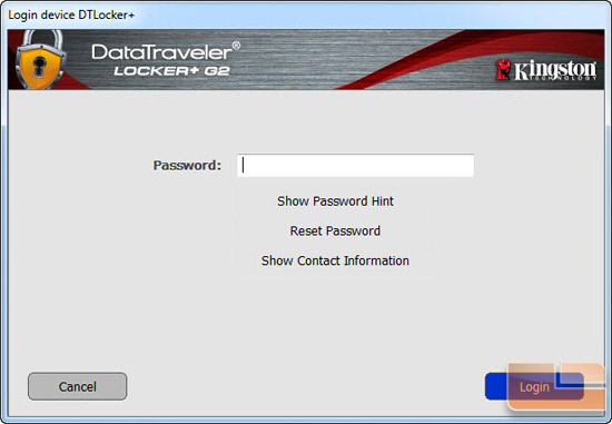 Kingston DataTraveler Locker+ G2 16GB Software