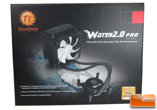 Thermaltake Water2.0 Pro front of the bo