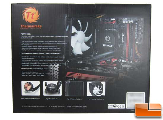 Thermaltake Water2.0 Pro back of the box