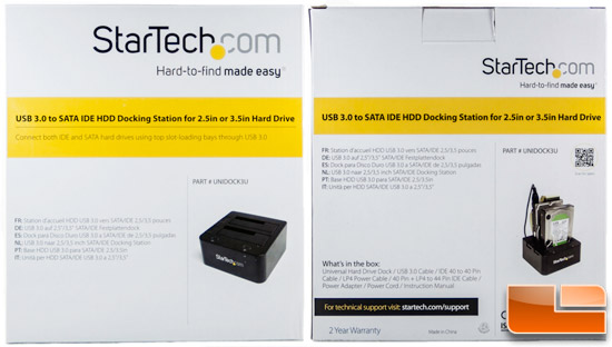 StarTech.com USB 3.0 to SATA IDE HDD Docking Station