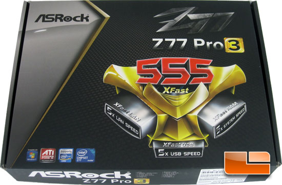 ASRock Z77 Pro3 Motherboard Retail Packaging