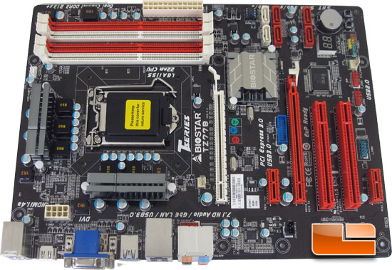 BIOSTAR TZ77B Intel Z77 Motherboard Layout