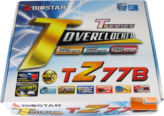 BIOSTAR TZ77B Intel Z77 Motherboard Retail Box and Bundle