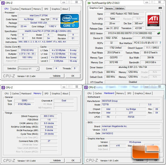 BIOSTAR TZ77B Intel Z77 System Settings