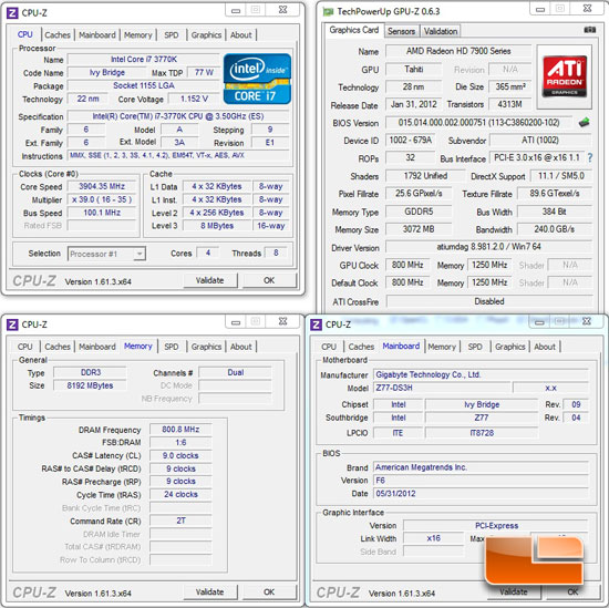 GIGABYTE Z77-DS3H Intel Z77 System Settings