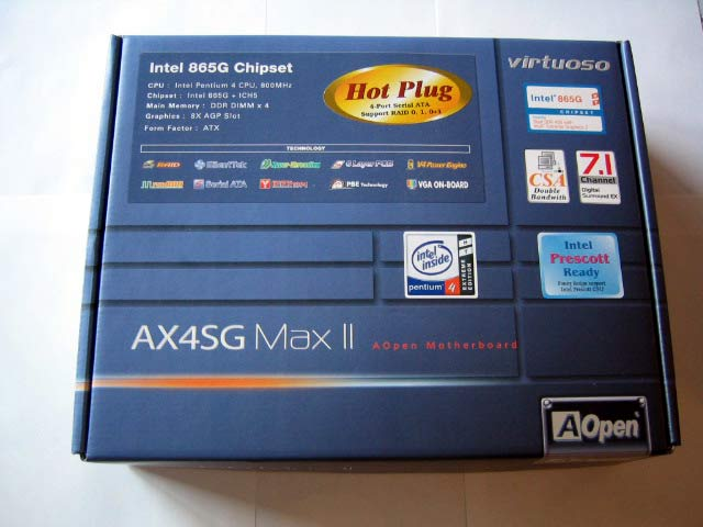 AOpen AX4SG Max I865G Motherboard