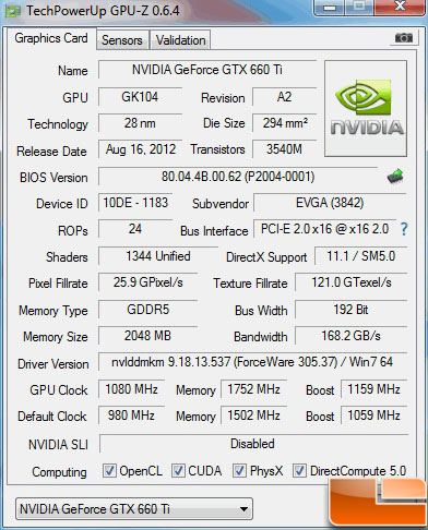 MSI GeForce GTX 660 Ti Overclock