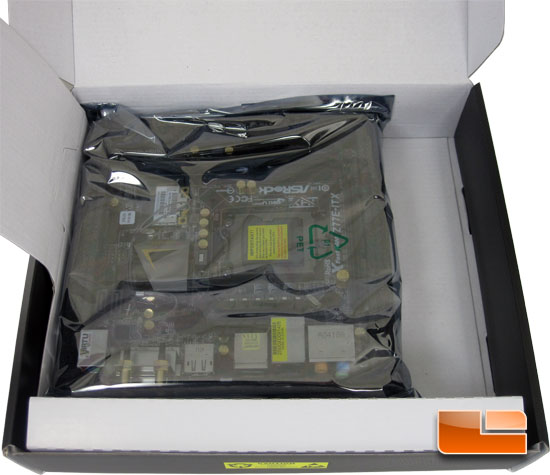 ASRock Z77E-ITX mITX Motherboard Retail Packaging and Bundle