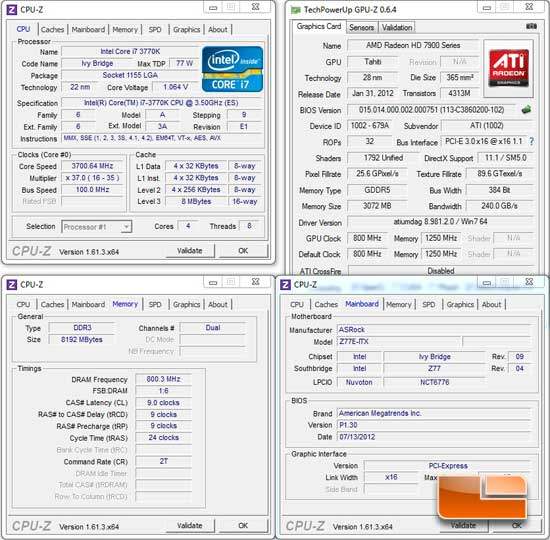 ASRock Z77E-ITX Intel Z77 System Settings