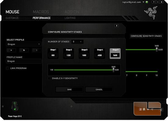 Naga 2012 Synapse DPI Adjustment
