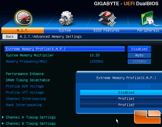 Gigabyte Z77 BIOS Settings