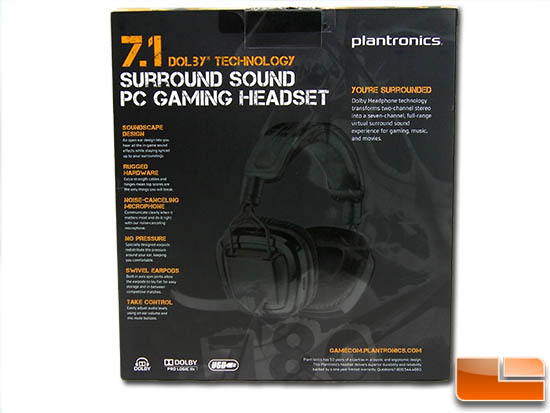 Plantronics GameCom 780 Box Rear