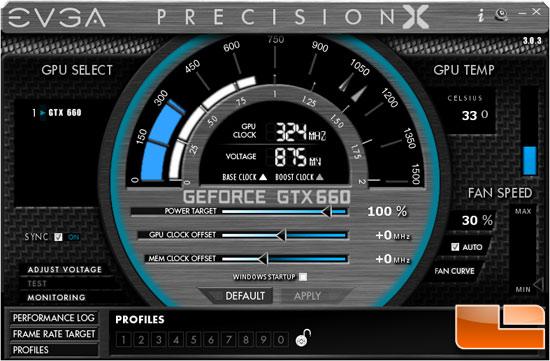 EVGA Precision 3.0.3 Overclocking Utility