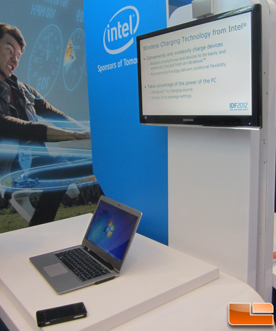 IDF 2012: Intel Wireless Charging Technology (WCT)