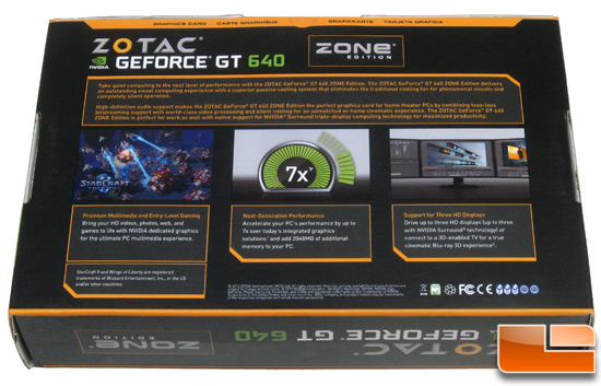 Zotac GeForce GT 640 Zone Retail Box