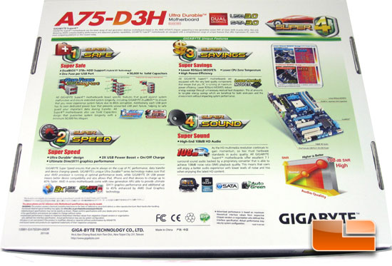 GIGABYTE GA-A75-D3H Retail Packaging and Bundle