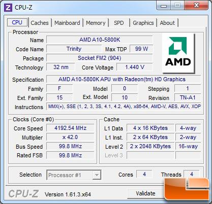 AMD A10-5800K Processor Load State