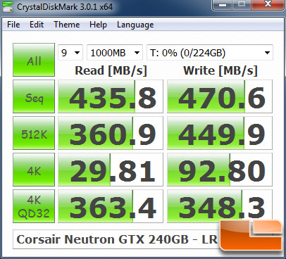 Corsair Neutron GTX 240GB CRYSTALDISKMARK P67