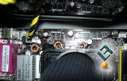 top of the motherboard