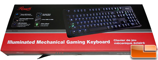 Rosewill RK-9100 Illuminated Mechanical Gaming Keyboard Review