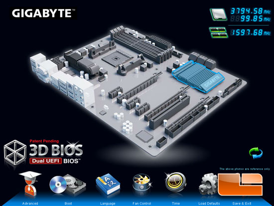 GIGABYTE 3D UEFI BIOS