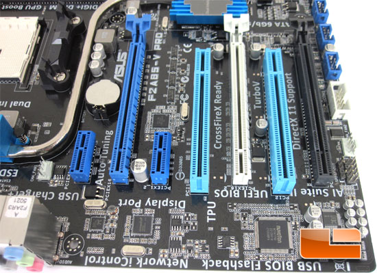 ASUS F2A85-V Pro AMD Socket FM2 Motherboard Layout