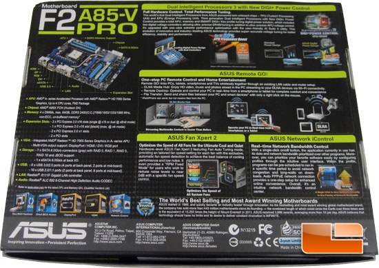 ASUS F2A85-V Pro Retail Box and Bundle
