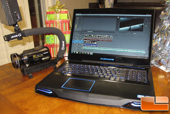 Alienware M17XR4 with Sony Vegas Pro 12