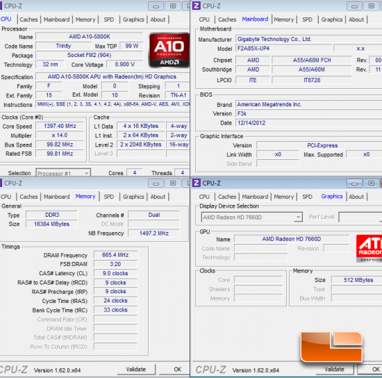 AMD Trinity System Settings CPU-Z