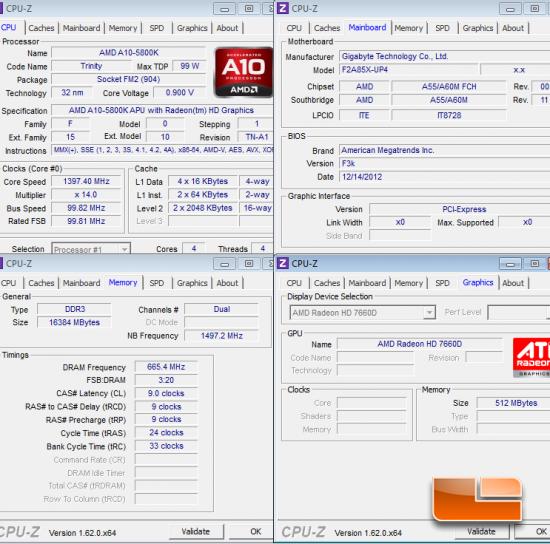 AMD Trinity System Settings CPU-Z