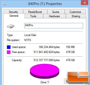 Samsung 840 Pro 512GB Properties