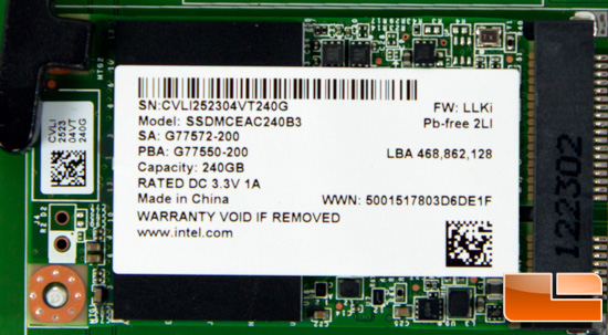 Intel 525 Series mSATA SSD