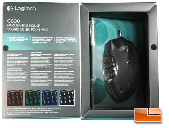 Logitech G600 Box Open