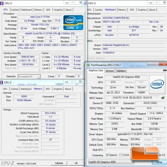 Intel Z77 System Settings