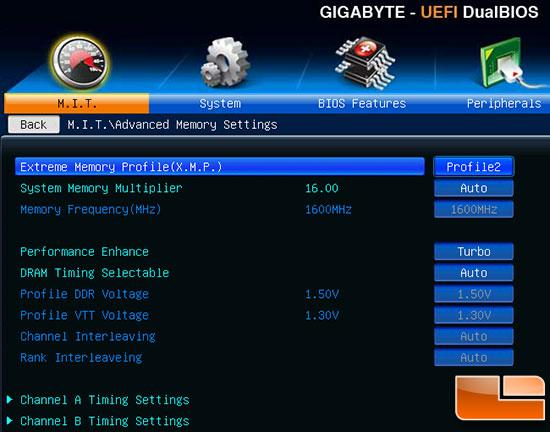 Crucial DDR3 XMP Profile 2