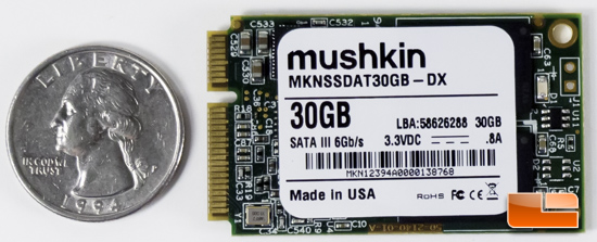Mushkin Atlas 30GB mSATA SSD