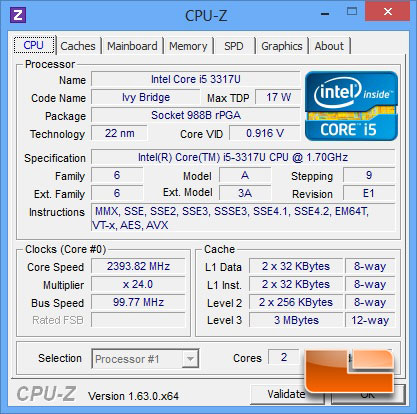 ACER Aspire S7-191-6640 CPUz
