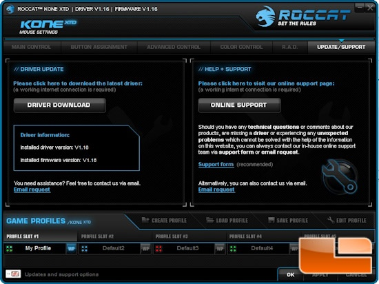 ROCCAT Kone XTD Software
