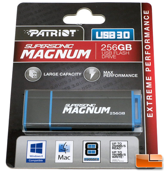 Patriot Memory 256GB Supersonic Magnum USB 3.0 Flash Drive