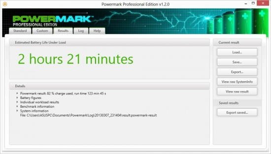 Futuremark Powermark Battery Testing Results
