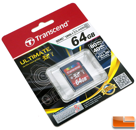Transcend 64 GB High Speed Class 10 UHS Flash Memory Card