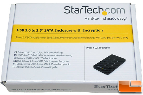 StarTech.com 2.5-Inch Encrypted Hard Drive Enclosure