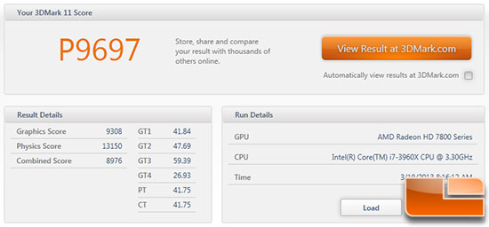 PowerColor HD7870 3DMark11 Overclocked