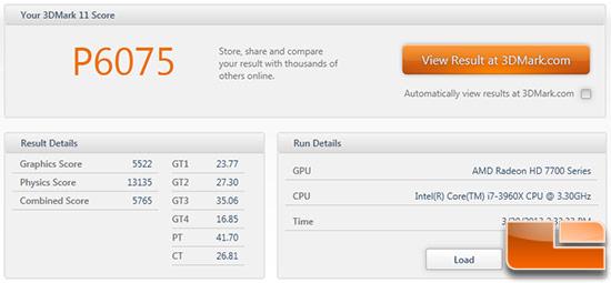 Gigabyte GV-7790OC-1GD 3DMark11