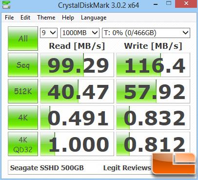 Seagate Momentus XT 750GB CRYSTALDISKMARK Z77